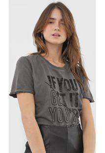 Camiseta Calvin Klein Jeans Get It Cinza