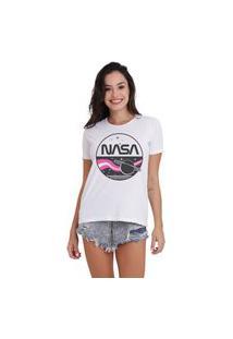 Camiseta Jay Jay Basica Nasa Branca Dtg