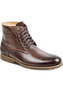 Bota Dress Boot Masculina Sandro Moscoloni Salvatore Marrom Escuro