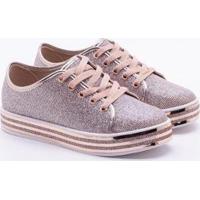2da0a9b263 Tênis Para Meninas Metalizado Moleka Rosa infantil   Shoes4you