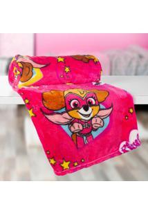 Manta Infantil Patrulha Canina (125X150) Poliéster Pink