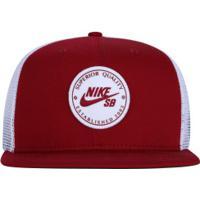 Boné Aba Reta Nike Sb Patch - Snapback - Trucker - Adulto - Vermelho Branco 778faa9ac8716