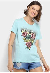 Camiseta Colcci Rock Tour Feminina - Feminino