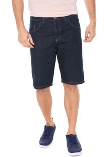 Bermuda Jeans Polo Wear Reta Lisa Azul-Marinho