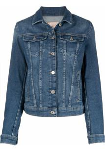 7 For All Mankind Jaqueta Jeans Clássica - Azul