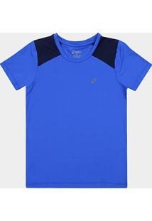 Camiseta Infantil Asics Fantasy Masculina - Masculino-Azul