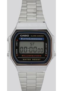 Relógio Digital Casio Feminino - A168Wa1Wdf Prateado - Único