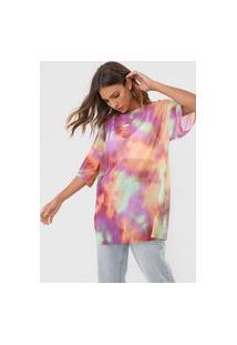 Camiseta Desigual Tie Dye Roxa/Laranja