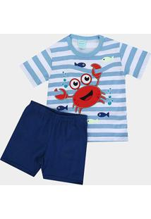 Pijama Infantil Kyly Caranguejo Fluorescente Masculino - Masculino
