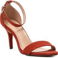 a65ebe5ab Sandália Couro Shoestock Salto Fino Naked Básica Feminina - Feminino -Caramelo