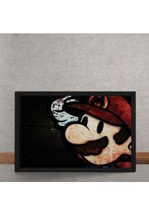 Quadro Decorativo Paper Mario Gamer 25X35