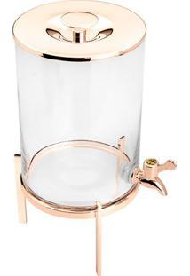 Dispenser Com Suporte- Incolor & Ros㪠Gold- 36,5Xã˜18Wolff