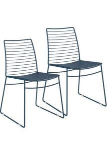 Cadeira 1712 Color Uv 02 Unidades Azul Noturno Carraro