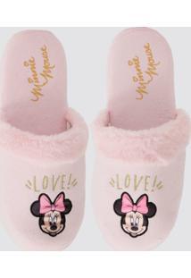 Pantufa Feminina Estampa Minnie Disney