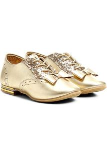 Sapato Ortopé Sofia Infantil - Feminino-Ouro