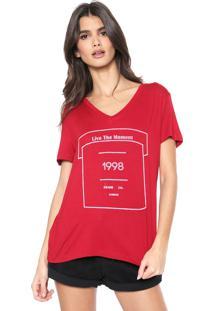 Camiseta Osmoze Estampada Vermelha