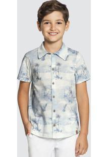 Camisa Meia Malha Azul