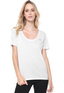 Camiseta Lacoste Reta Branca