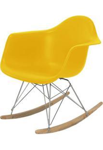 Cadeira Eames Com Braco Base Balanco Amarelo Fosco - 24504 - Sun House