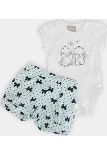 Conjunto Infantil Milon Cotton Laços Feminino - Feminino