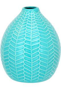 Garrafa Em Cerâmica Home&Co 14X12,1Cm Azul