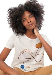 Camiseta Cantão Estampada Off-White