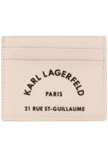 Karl Lagerfeld Clutch Com Bordado Rue St Guillaume - Neutro