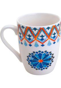 Caneca Mandala Azul 330 Ml
