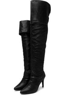 Bota Over Knee Yes Basic Cano Alto Feminina - Feminino-Preto