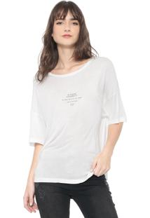 Camiseta Colcci Flower Yourself Off-White