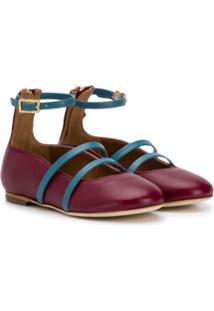 Malone Souliers Kids Robyn Smalls Ballerina Shoes - Vermelho
