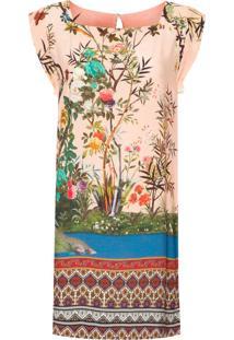 Vestido Quadrado Meu Jardim - Rosa
