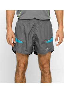 Shorts Masculino Running Laser Cinza/Azul Claro M - Speedo