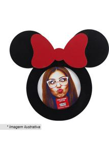 Porta Retrato Minnie® - Preto & Vermelho - 21X22,5Cmzona Criativa