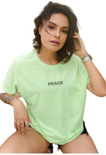 Camiseta Opus Estampa Peace - Verde - Kanui