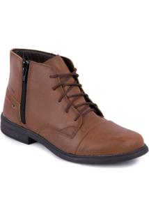 Bota Strikwear Cano Curto Com Ziper Na Lateral - Masculino-Marrom