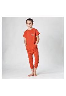 Pijama Confortável Comfy T-Rex Ferrugem