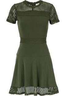 Michael Michael Kors Vestido Evasê Com Recortes - Green