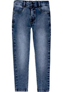 Calça Jeans Infantil Hering Estonada Masculina - Masculino-Azul