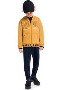 Conjunto Jaqueta E Calça Amarelo