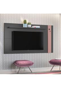 Painel Para Tv Até 48 Polegadas Eyre Grafite E Rosé