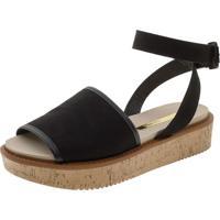 eb97b3aa4 Clóvis Calçados. Sandalia Feminina Flatform Moleca - 5406520 Preto