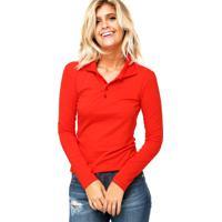 Camisa Polo Manga Longa Malwee Confort Vermelha 94baa2a82a2b1