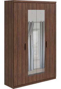 Guarda-Roupa Casal Com Espelho Alonzo 4 Pt 3 Gv Imbuia