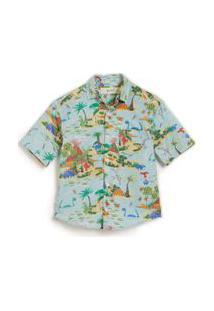 Camisa Dinolandia Est Dinolandia Azul Claro - 10