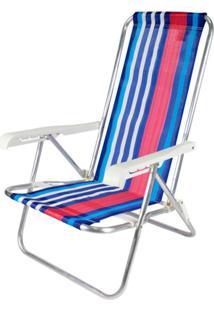 Cadeira Reclinável 4 Posições Alumínio Multicolorido Belfix