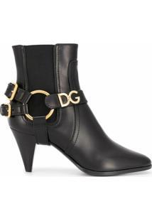 Dolce & Gabbana Bota Com Fivela Dupla - Preto