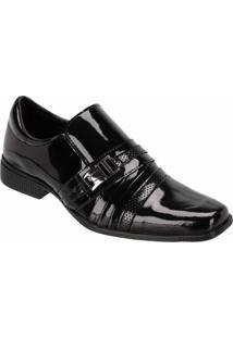 Sapato Esporte Fino Difranca Conforto Verniz - Masculino-Preto