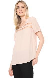 Camiseta Forum Recortes Rosa