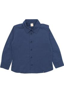 Camisa Green Menino Lisa Azul-Marinho
